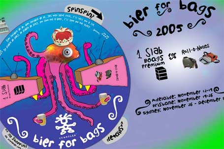 screenshot of Crumpler 'Bier for Bags 2005' website