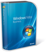 Windows Vista Business box with blue background