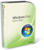 Windows Vista Home Basic box with light green background