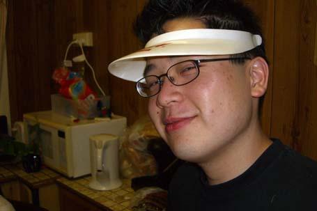 Marcus wearing visor