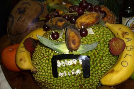 Pablo the fruit sculpture