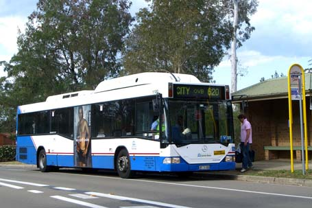 Gas bus M/O 1100 calls at Appletree Shops on a route 620 service