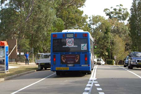 1100 heading down Shephards Dr on a route 620 service