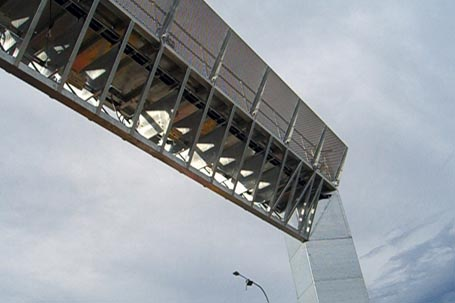 close-up of an overhead e-toll gantry