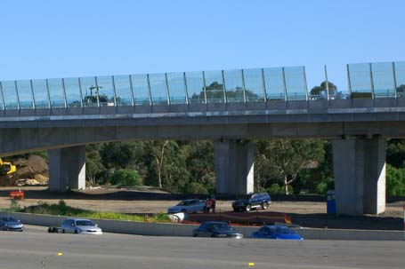 work underway on the Westlink M7 viaduct over Old Windsor Rd