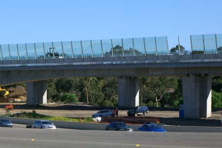 work underway on the WestlinkM7 viaduct over OldWindsorRd